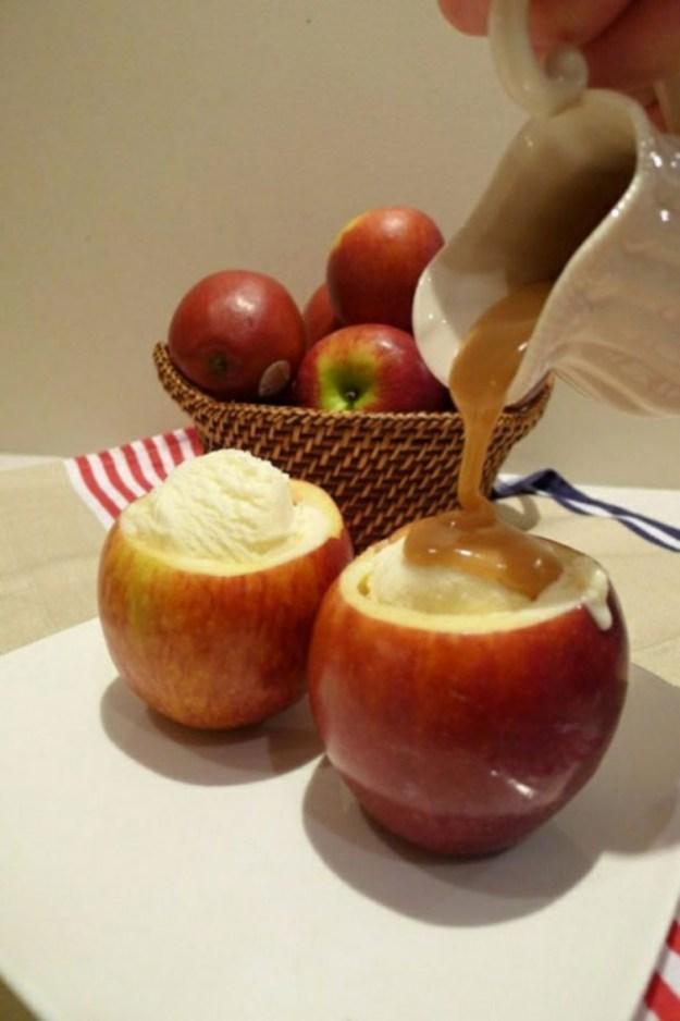 Мороженое в яблоках