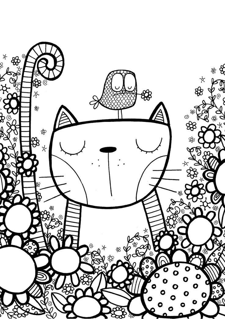 Раскраска кошки