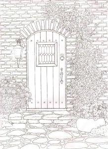 Раскраски антидепрессия домик