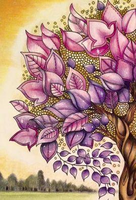 Раскрашенные раскраски дерево