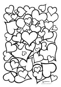 Раскраска сердечки