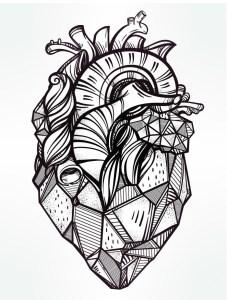 Сердце раскраска