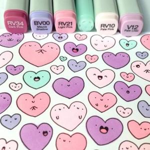 дудлы для начинающих ко Дню Святого Валентина