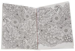 Антистресс раскраска открытки Волшебные цветы