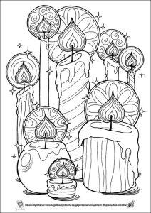 антистресс раскраска свечи