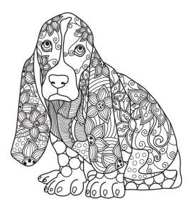 антистресс раскраска собака