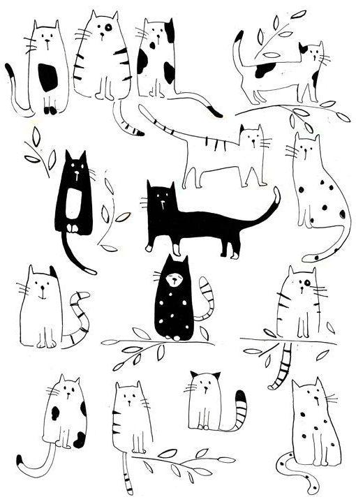 картинки для срисовки животные легкие