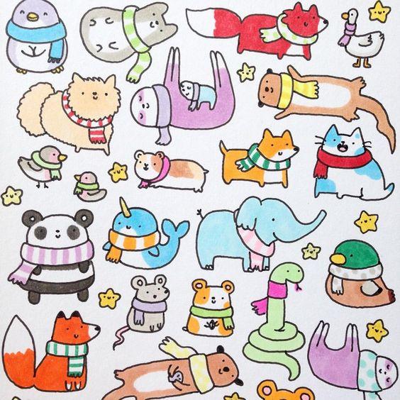 Рисунки для срисовки красивые и легкие животные