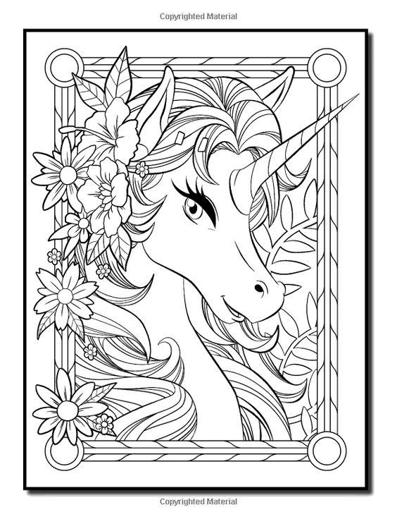 Раскраски единорог лошади