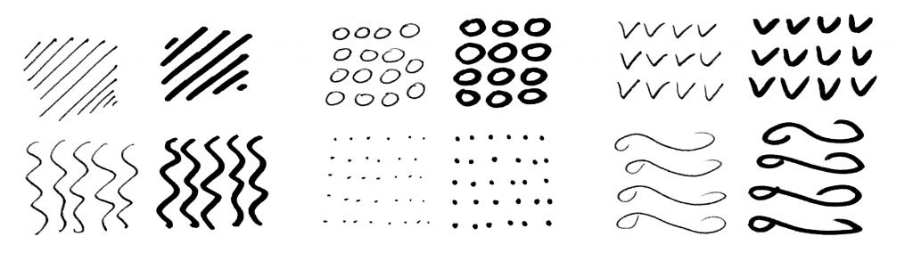 Упражнение 2. Как научиться рисовать в стиле Зентангл