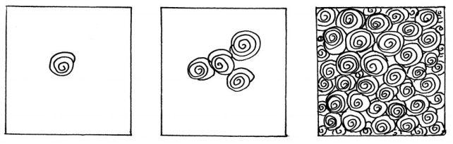 Узор со спиралями