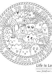 Doodle Art / Doodling - Coloring Pages for Adults6