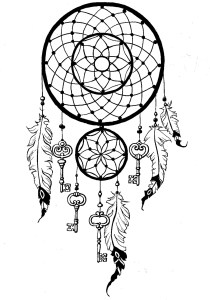 Dreamcatchers - Coloring Pages for Adults1