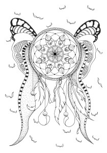 Dreamcatchers - Coloring Pages for Adults8