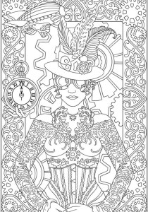 Fashion, clothing and jewelry - Coloring Pages for Adults7