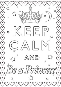 Keep calm and … - Coloring Pages for Adults2