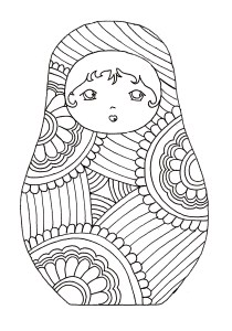 Russian dolls - Coloring Pages for Adults12