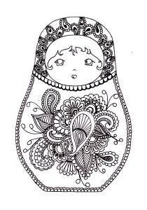 Russian dolls - Coloring Pages for Adults4