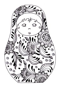 Russian dolls - Coloring Pages for Adults7