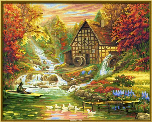 """Набор для рисования по номерам Schipper """"Осень"""", 40 х 50 см"""