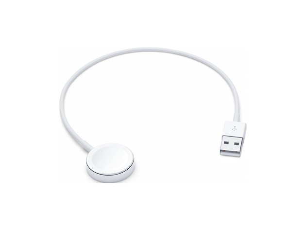 Apple Watch Magnetic Charger to USB Cable, a Completely Sealed System Free of Exposed Contacts. 0.3 Meter, White (New Open Box) for $29