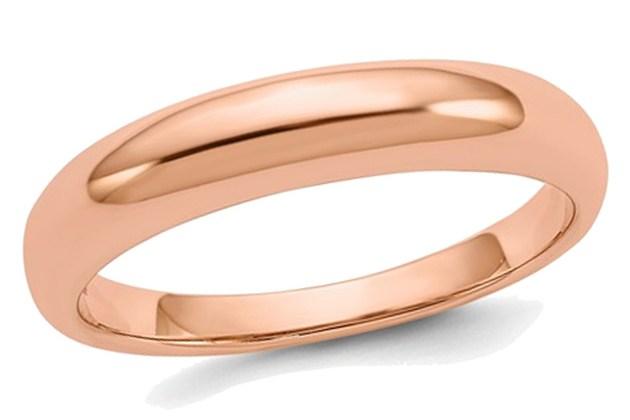 Ladies 14K Rose Pink Gold 3mm Polished Wedding Band – 5 for $295