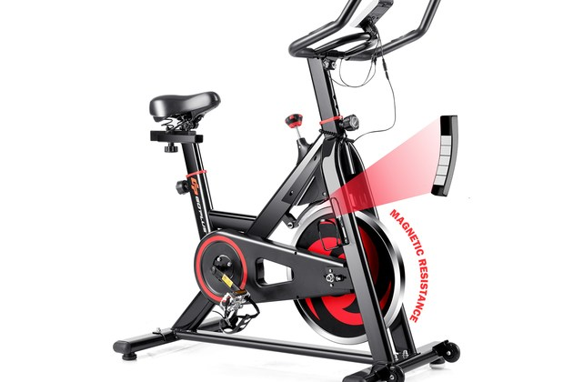 Goplus Stationary Exercise Magnetic Cycling Bike 30Lbs Flywheel Home Gym Cardio Workout for $469