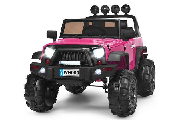 Costway 12V Kids Ride On Truck RC Car w/ LED Lights Music Trunk Pink  for $329