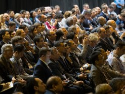 217Chicago, IL - 2017 ASCO Annual Meeting - Attendees listen during Plenary Session Including the Science of Oncology Award and Lecture at the American Society of Clinical Oncology (ASCO) Annual Meeting here today, Sunday June 4, 2017. Over 40,000 physicians, researchers, and healthcare professionals from over 100 countries are attending the 53rd Annual Meeting, which is being held at McCormick Place. The ASCO Annual Meeting highlights the latest findings in all major areas of oncology, from basic to clinical and epidemiological studies. Photo by © ASCO/Todd Buchanan 2017 Technical Questions: todd@medmeetingimages.com; ASCO Contact: photos@asco.org