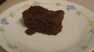 My first piece!  I was in brownie heaven!