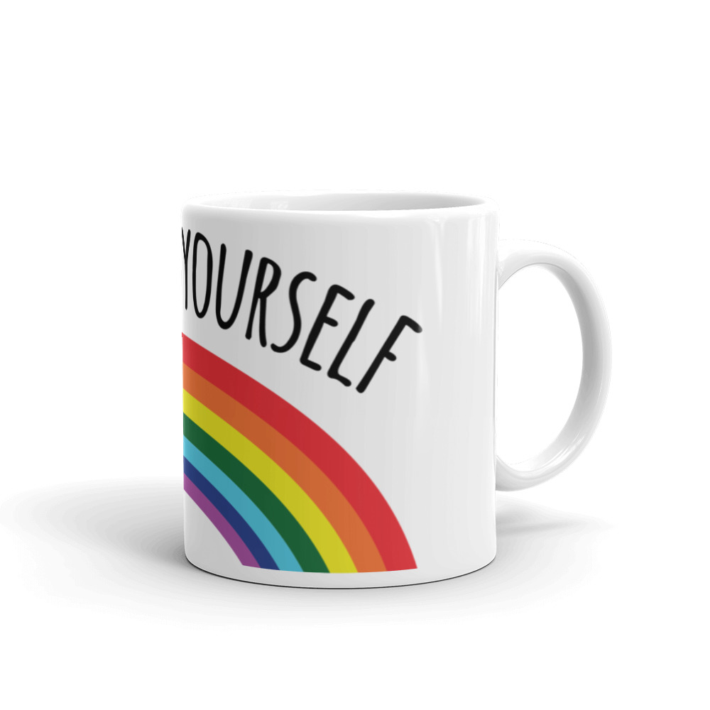 Go Fuck Yourself Rainbow Coffee Mug