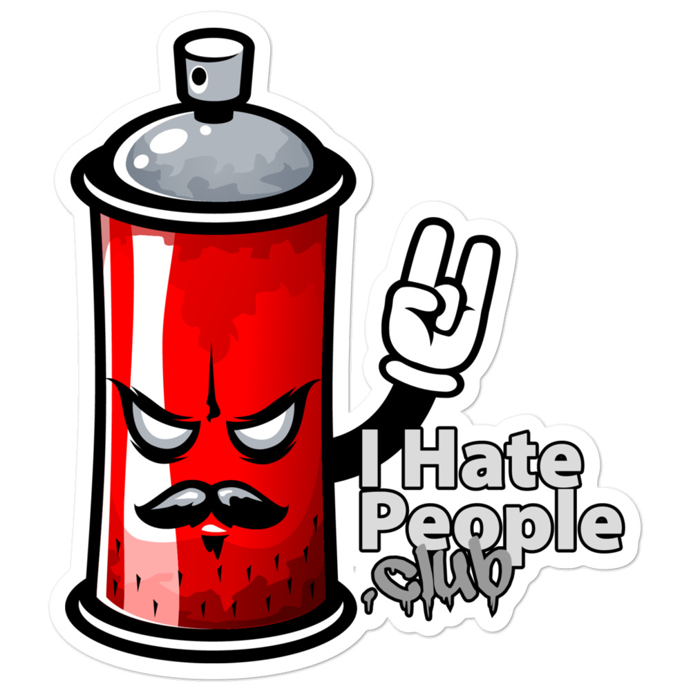 I Hate People Spray Paint Can Graffiti Art Sticker