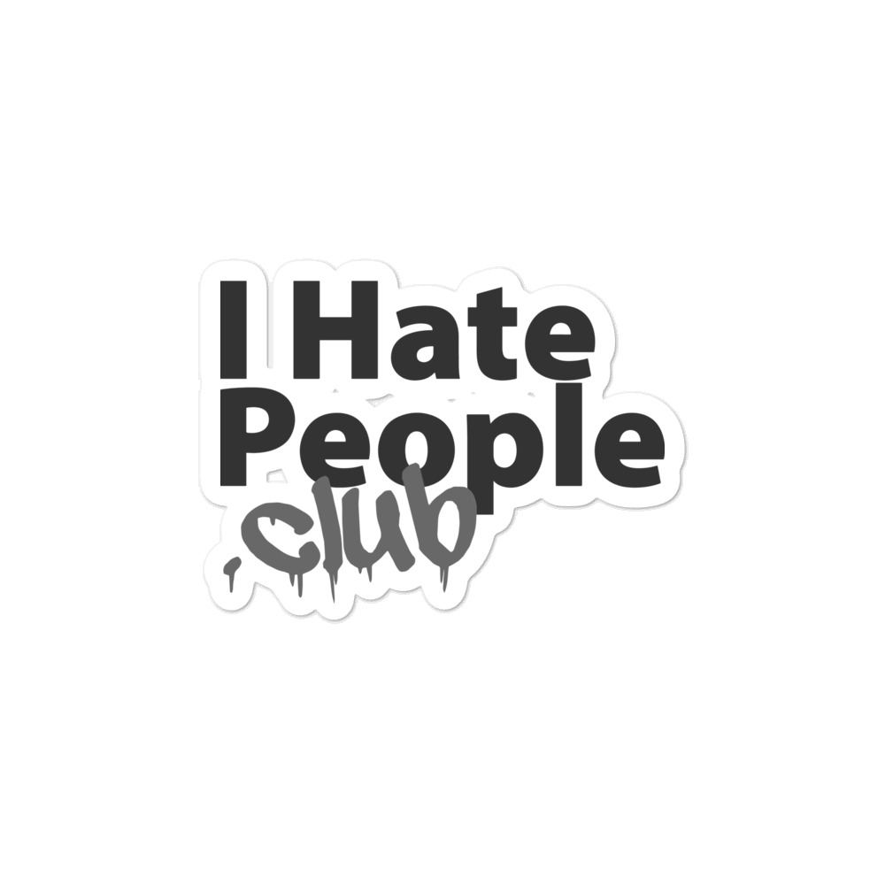 I Hate People Logo Sticker