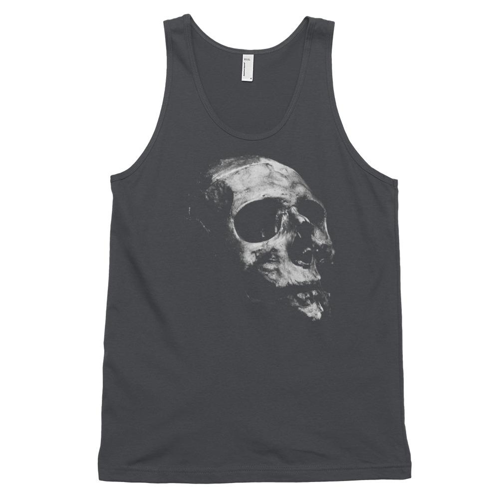 Black and Grey Skull Tank