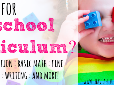 Looking for Pre-school Curriculum? 31 Days of Homeschool Supplies