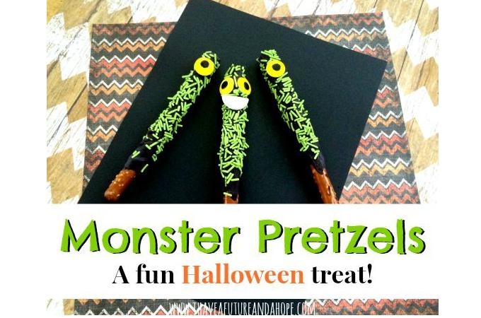 Monster Pretzels: A Fun Halloween Party Favor