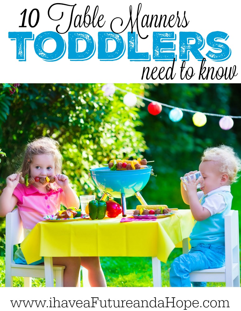 10 table manners toddlers need to know