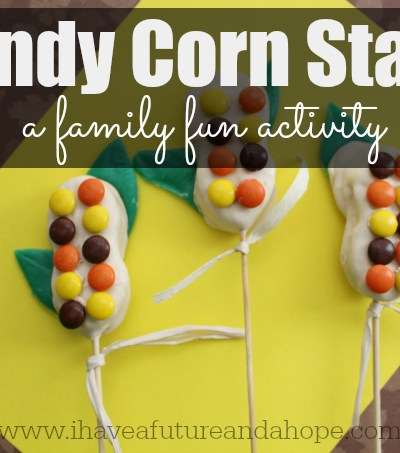 Candy Corn Stalks: Family Fun Activity