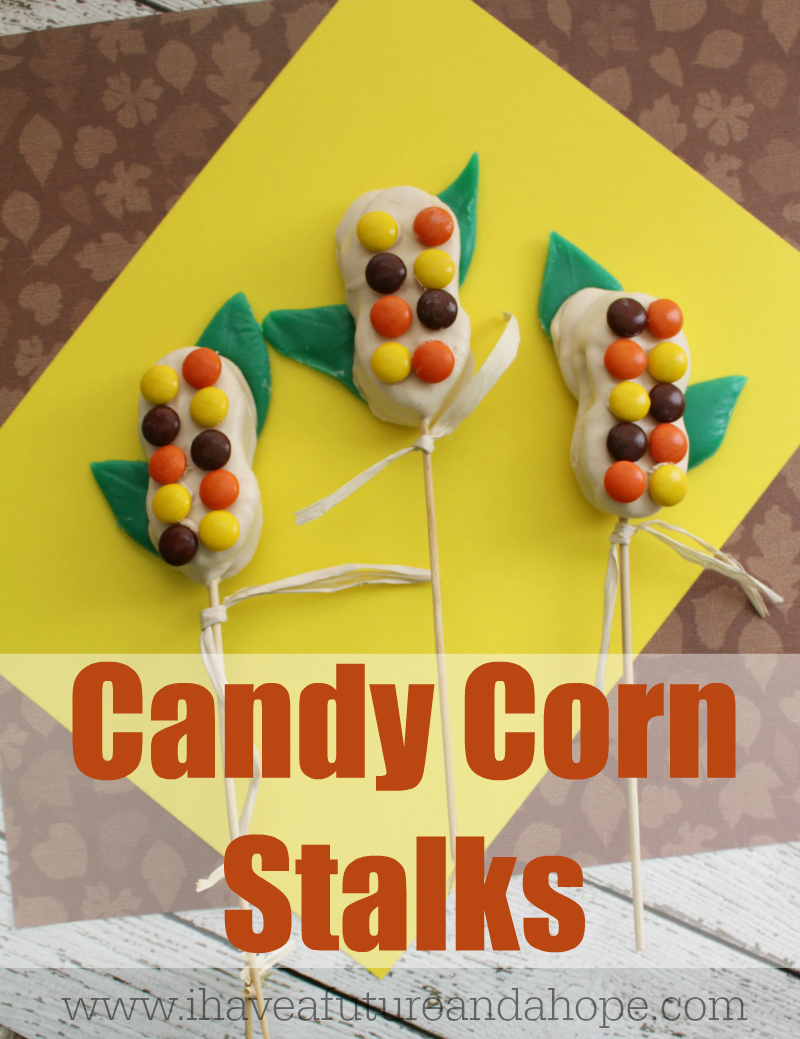 Candy Corn Stalks Family Fun Activity for Fall
