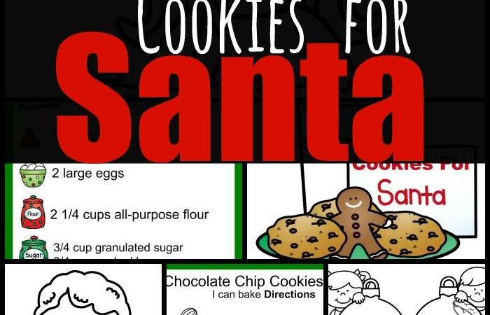 Free Printable Pack Cookies for Santa