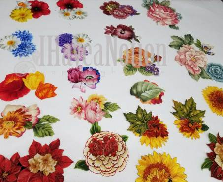 Threadpainting flower assortment