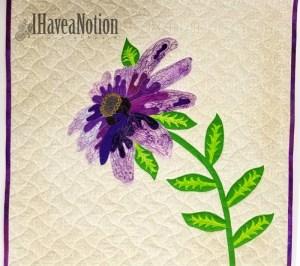 complete Purple Flower quilt
