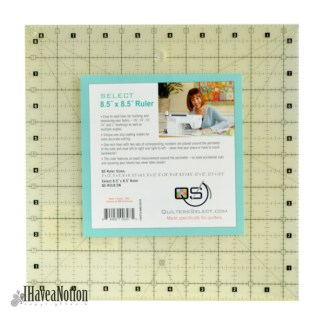 "Quilters Select 8 1/2"" square ruler"