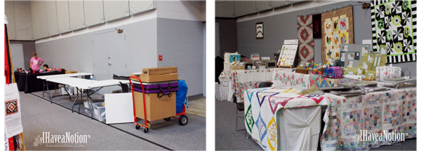 Quilt Show Booth at Heartland of Kentucky Quilt Show 2019