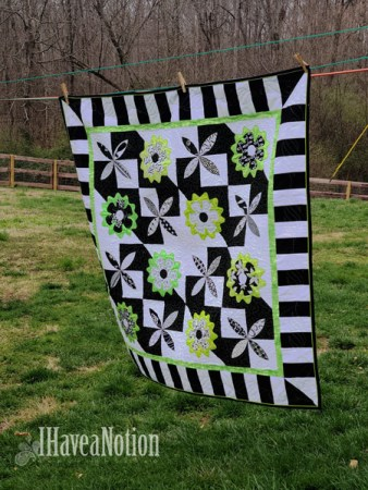 Airing a quilt for National Quilting Day 2020