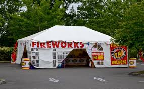 Fireworks Parking lot sales tent