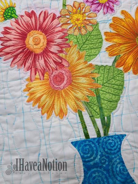 Free Spirit Flowers Stitched