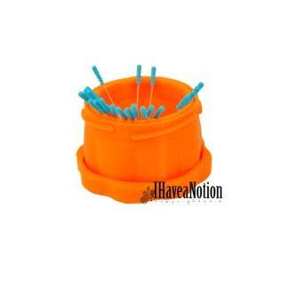 Large Orange Magnetic Pin Cup