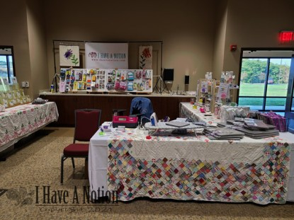 booth fall center view
