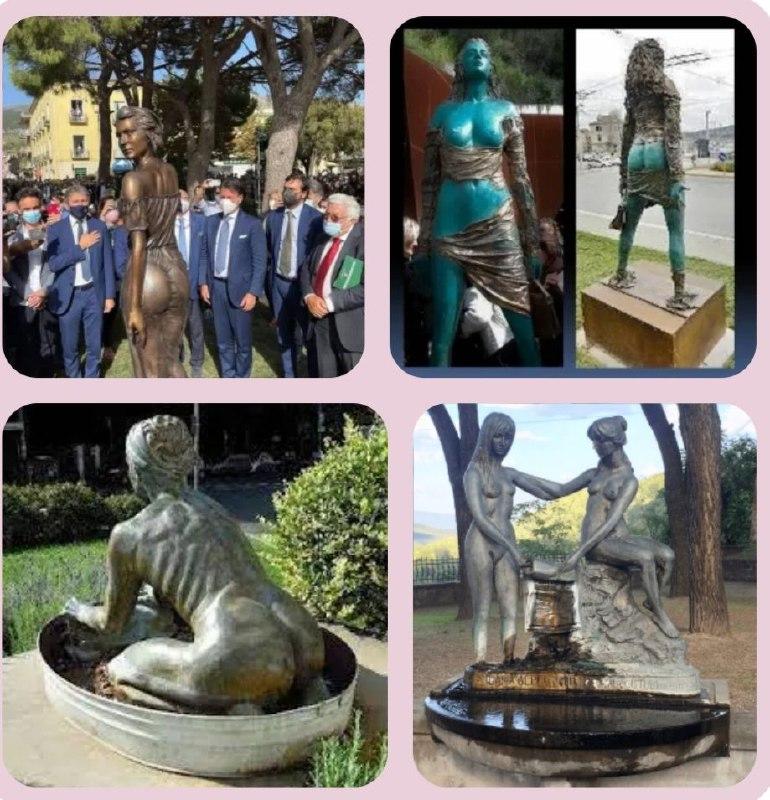 rimuovere le statue sessiste